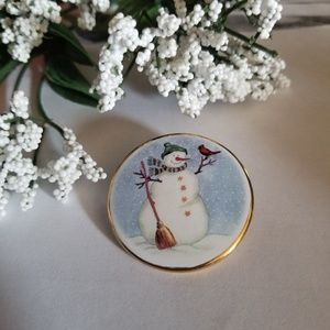 Cute Vintage Snowman Pin
